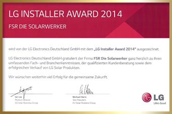 LG Auszeichnung für Fritz Strieffler 2014